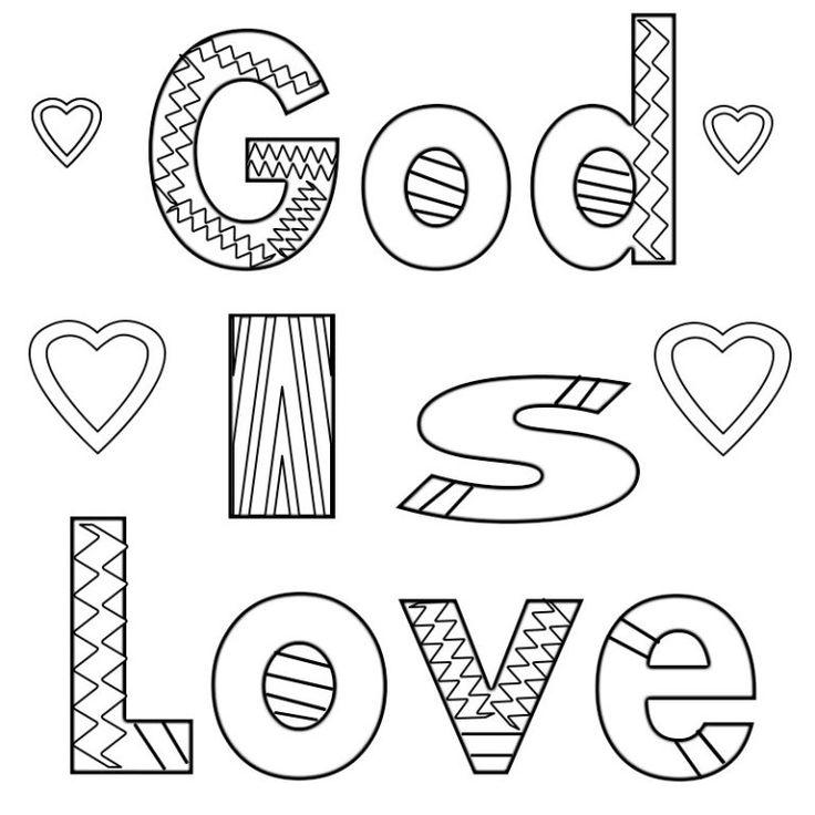 god is love coloring pages  love coloring pages
