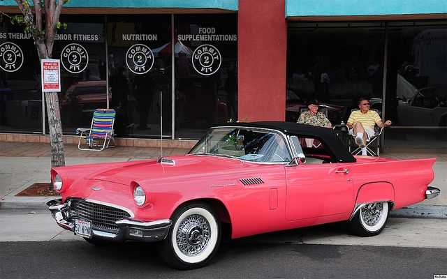 1957 Ford Thunderbird - Sunset Coral - fvl by Pat Durkin - Orange County, CA, via Flickr