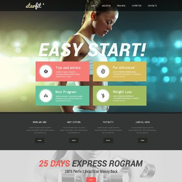 57 best Sports websites images on Pinterest Website designs - fitness templates free
