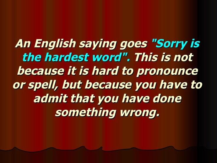 Speech Act    Apologies