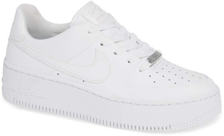 Hervir Hacer la vida Berenjena  Nike Air Force 1 Sage Low Platform Sneaker (Women) | Nordstrom | Platform  shoes sneakers, Sneakers, Nike air force