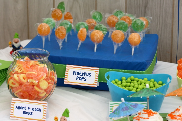 Phineas and Ferb Candy table