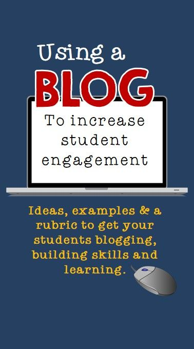 FREE Get your students blogging while they learn important skills. Ideas, examples and a rubric included.