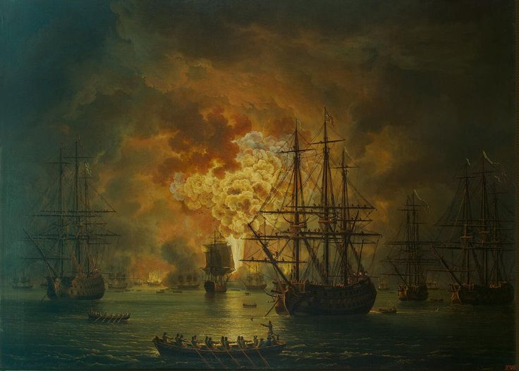 Destruction of the Turkish Fleet in the Bay of Chesme