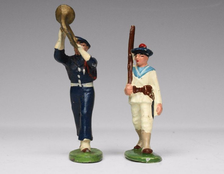 VINTAGE QUIRALU ALUMINIUM TOY SOLDIERS: MARCHING FRENCH NAVY & AIR FORCE FIGURES | eBay
