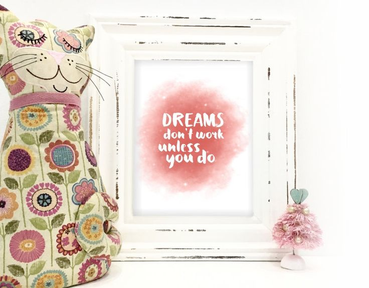 Instant Download printable - Dreams don't work by MyCosmicShop on Etsy