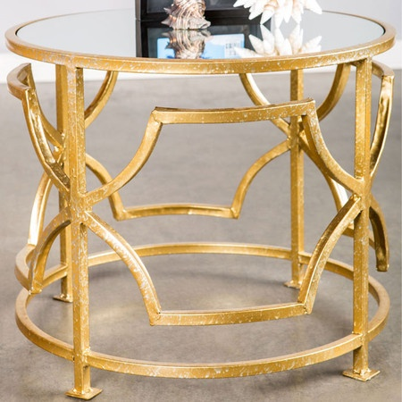 We love this glass coffee table.
