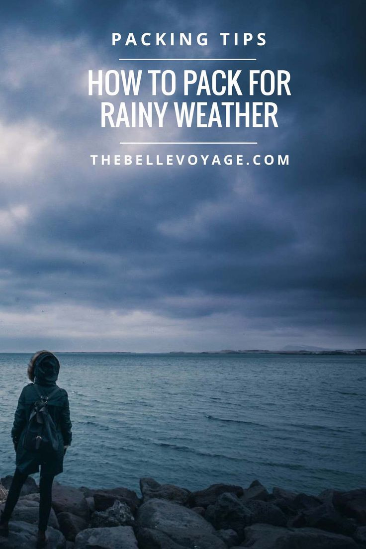 What to Pack for Rainy Weather | The Belle Voyage.  Travel rain outfit, travel rain boots, what to pack for rain, packing list, how to pack.