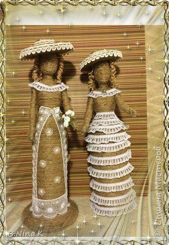 Куклы Поделка изделие Моделирование конструирование Шпагатные куколки Шпагат фото 1