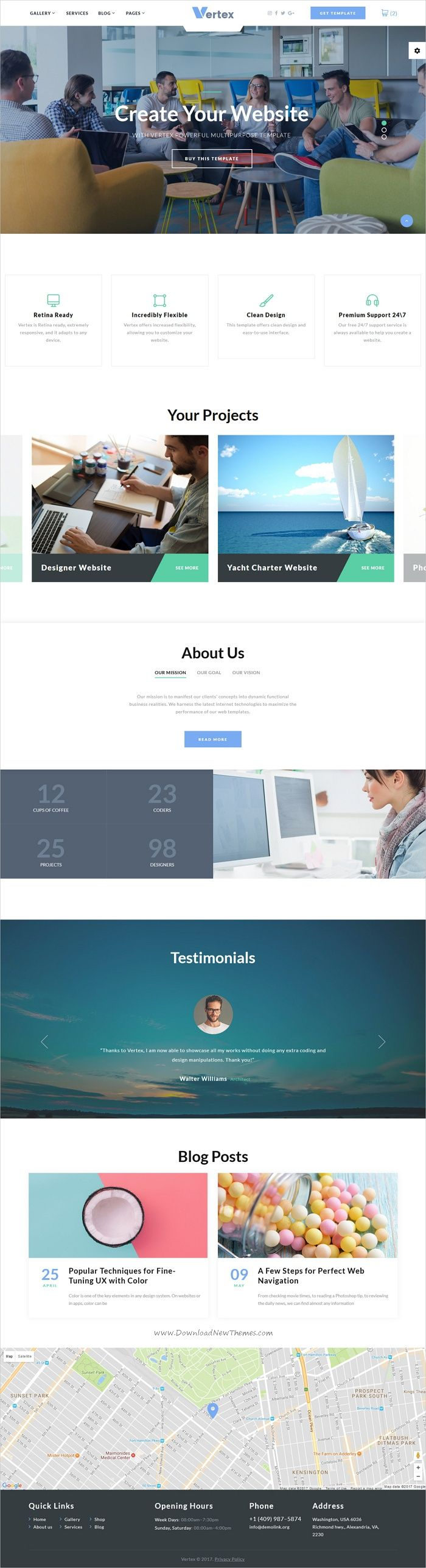 Vertex is clean and modern design responsive multipurpose #HTML5 template for stunning #corporate website with 12+ niche homepage layouts download now➩ https://themeforest.net/item/vertex-multipage-business-website-template/19795017?ref=Datasata