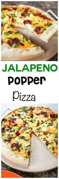 Jalapeno Popper Pizz Jalapeno Popper Pizza: Spicy jalapenos and...  Jalapeno Popper Pizz Jalapeno Popper Pizza: Spicy jalapenos and crunchy bacon inside the easiest homemade pizza crust ever! Tastes just like a jalapeno popper! Recipe : http://ift.tt/1hGiZgA And @ItsNutella  http://ift.tt/2v8iUYW