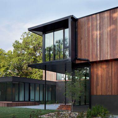 Vertical wood paneling
