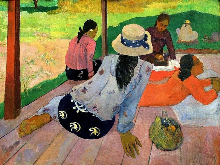 The Siesta by Paul Gauguin Canvas Print Picture Wall Art - 10 SIZES
