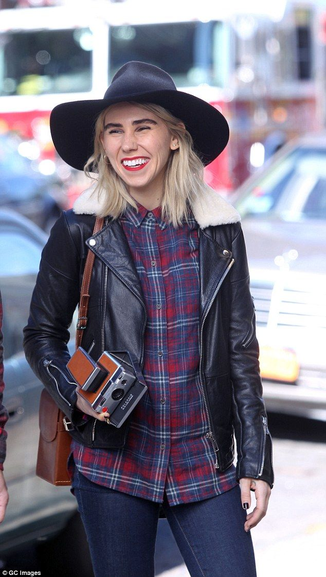 Haute hipster: Girls star Zosia Mamet (pictured) recently moved from Bushwick to Manhattan's Upper West Side, but she's got Brooklyn in her bones. The star rocks Williamsburg's favorite trend, plaid