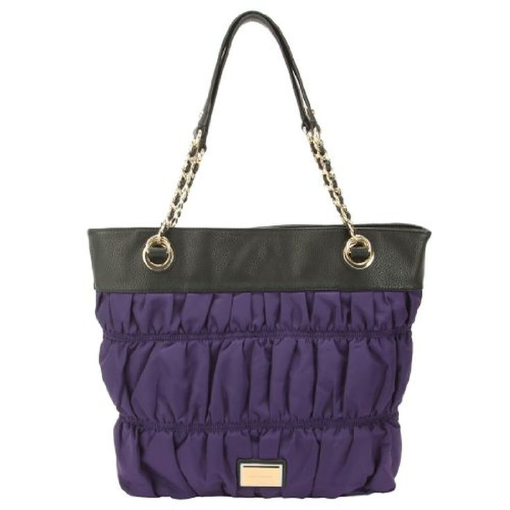 Juicy Couture Nylon Rouched Tote -Purple
