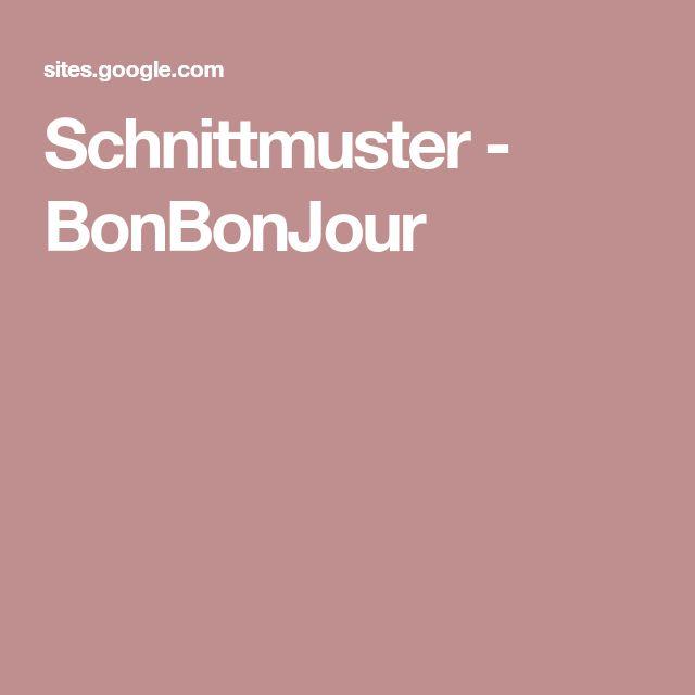 Schnittmuster - BonBonJour