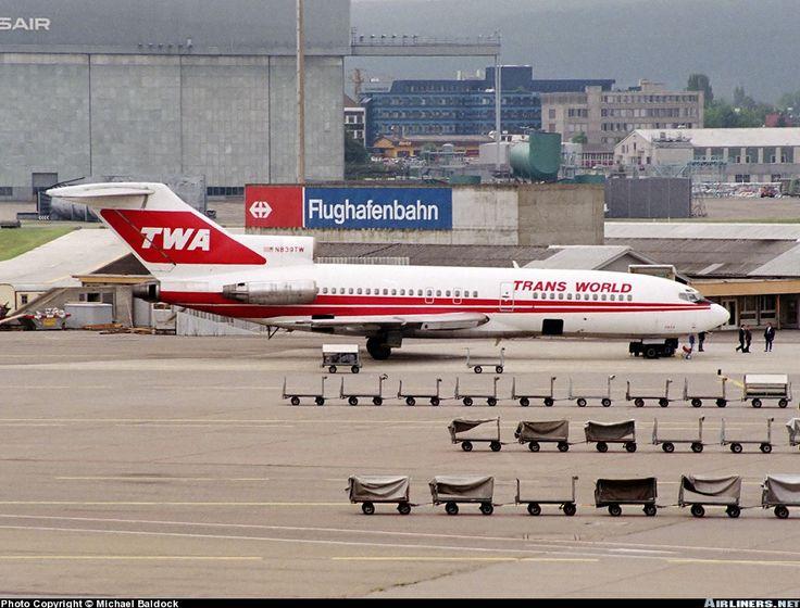 Trans World Airlines - TWA Boeing 727-31 N839TW looking lonely at Zürich-Kloten, June 1989. (Photo: Michael Baldock)