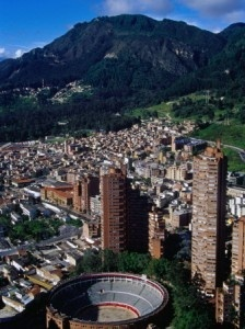View over the center area of the city with our mountains at the back, a prominent element of our city landscape.