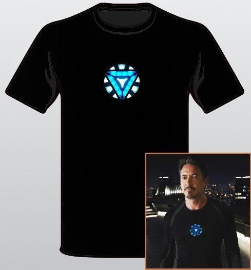 I found 'The Avengers T-Shirt Tony Stark Arc Reactor Iron Man Loki Thor Hulk Tee Sizes: S-XL' on Wish, check it out!
