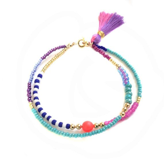 Beaded Bracelet, friendship bracelet, bff, best friend gift, Tassel Bracelet, tassel jewelry, wrap bracelet
