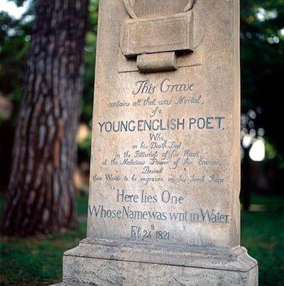 The grave of John Keats