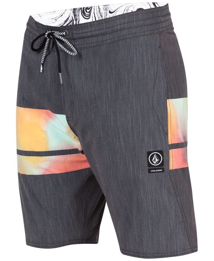 Volcom Men's Colorblocked Chambray Stretch Board Shorts