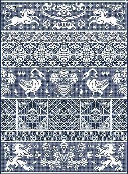 Bagatelle |  Price: £18.00 Area in stitches: 322 x 443