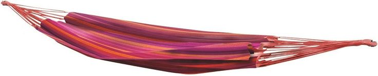 Bo-Garden Rumba 1-persoons hangmat  Vrolijke gekleurde hangmat De Rumba eenpersoons hangmat van Bo-Garden is verkrijgbaar in twee uitvoeringen. Je hebt de keuze uit een effen katoenen hangmat in een naturel kleur of je kunt kiezen voor een van de vele gestreepte varianten. De Rumba 1-persoons hangmat is 305 centimeter lang en heeft een ligoppervlak van 200140 centimeter. Het maximale draagvermogen van de hangmat is 150 kilogram. Verkrijgbaar in verschillende uitvoeringen De Bo-Garden Rumba…
