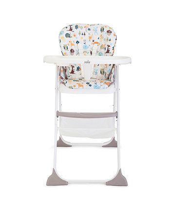The Joie Snacker highchair features a three postition seat recline and can be folded quickly and compactly using just one hand!