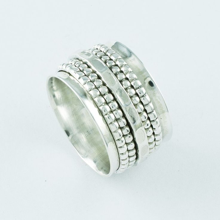 Attractive Design 925 Solid Sterling Silver Spinning Ring by JaipurSilverIndia on Etsy