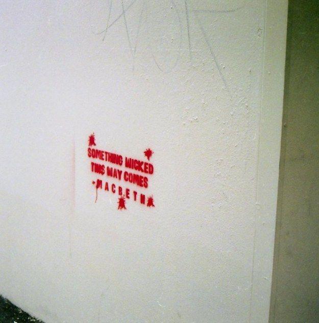 Macbeth – William Shakespeare. Brisbane, Australia. | 28 Brilliant Works Of Literary Graffiti