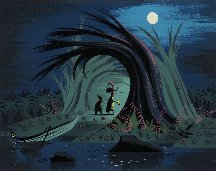 Mary Blair (Peter Pan) great color scheme