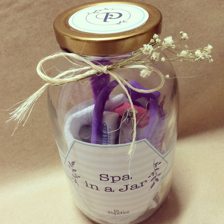Kit spa in a jar by La Papelier