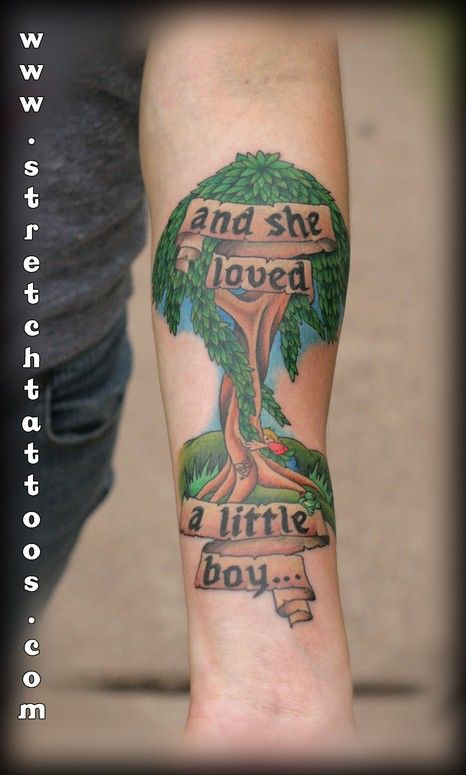 Giving Tree Tattoo--In my eyes, this is EPIC. This poem has always had a special place in my heart.