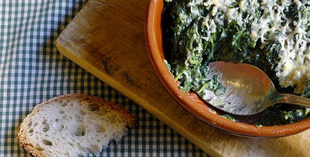 Recipe of the day: Spinach with Bechamel Sauce - http://www.italianyummy.com/italianyummy/spinach-with-bechamel-sauce/