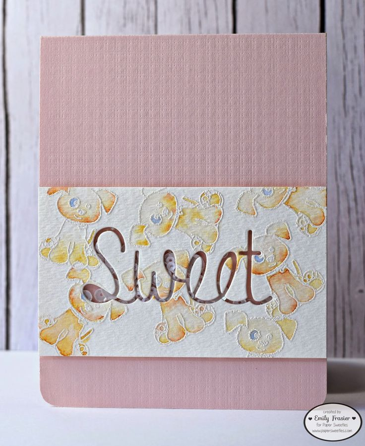 Paper Sweeties, Happy Sweet Cut, PiecesbyEmily, Emily Frasier, card making, handmade card, clear stamps, pet card, shaker card