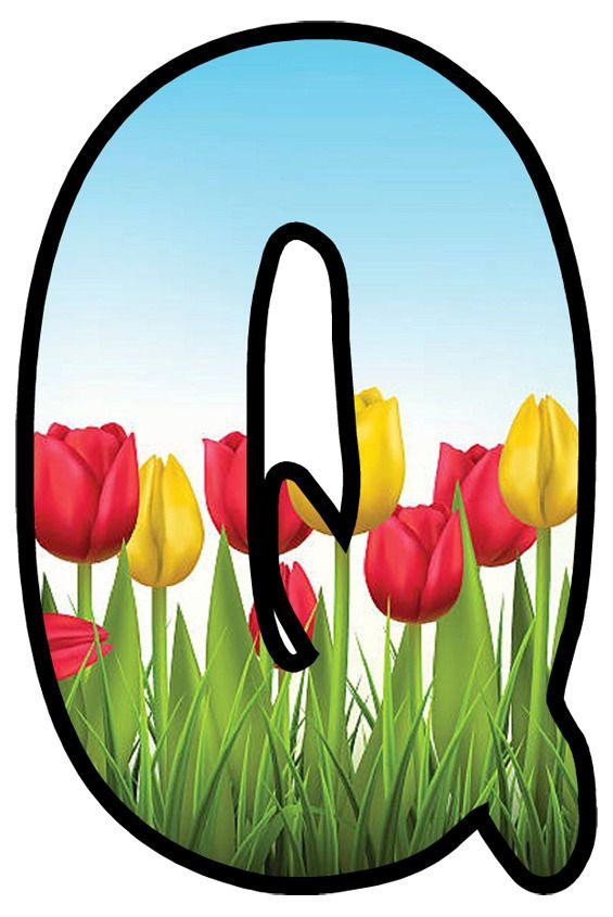 Buchstabe Letter Q Monogram Alphabet April Easter Alphabet