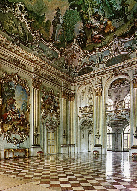 postcard - Nymphenburg Palace by Jassy-50, via Flickr