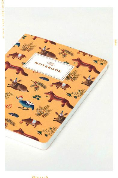 Forest Animals Notebook in Yellow