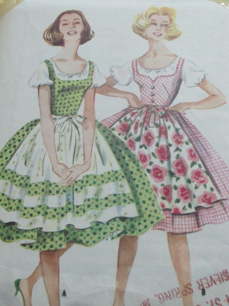 50s era dirndl-style pattern