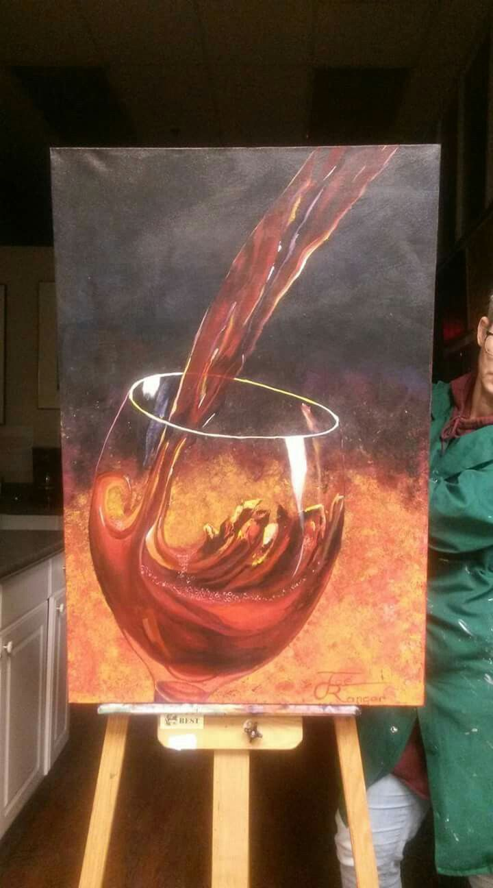 Pour Acrylic on stretched canvas 24x36