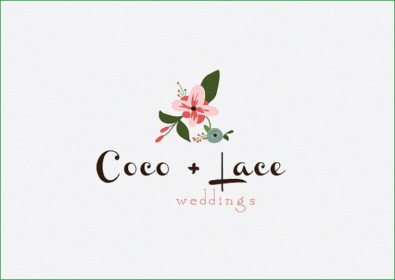 Custom PreDesigned / pre-made modern flower logo / premade flower photography logo design