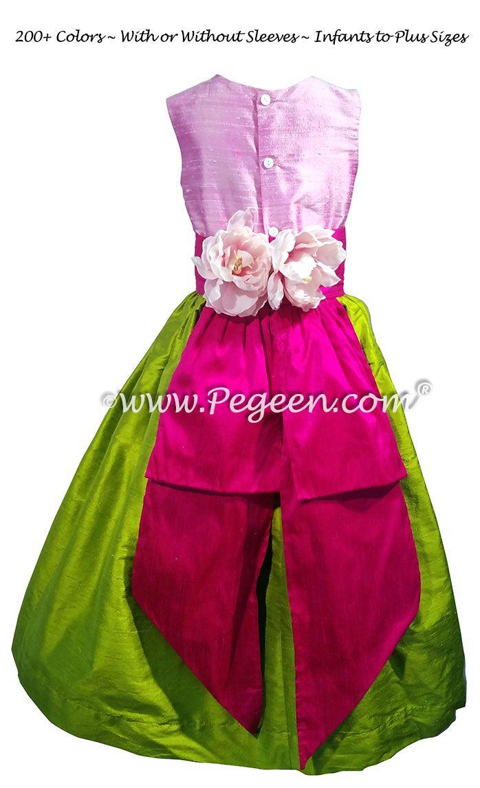 The 459 best Hot Pink Flower Girl Dresses images on Pinterest ...