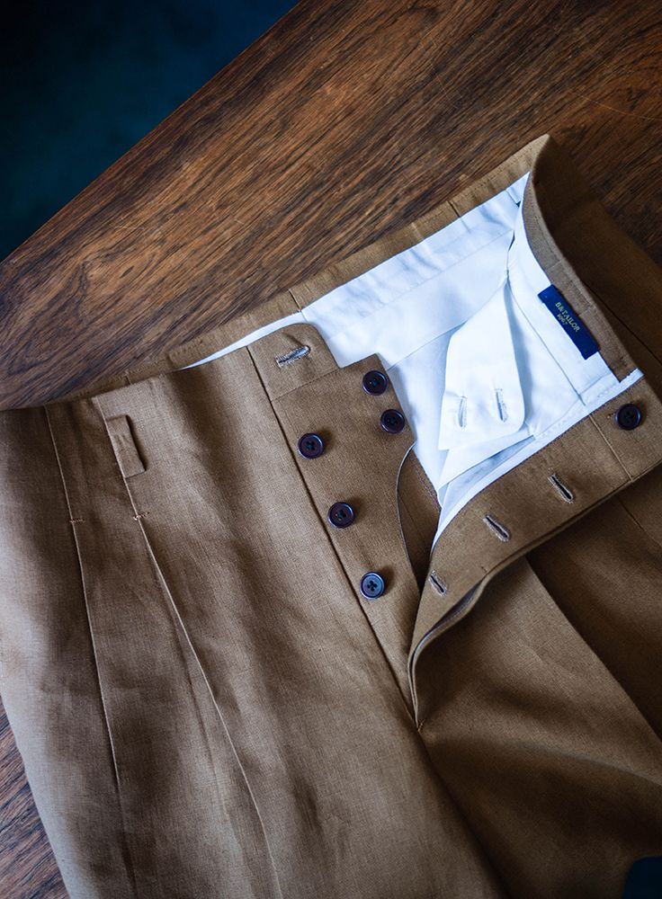 B&TAILOR Belt Trousers