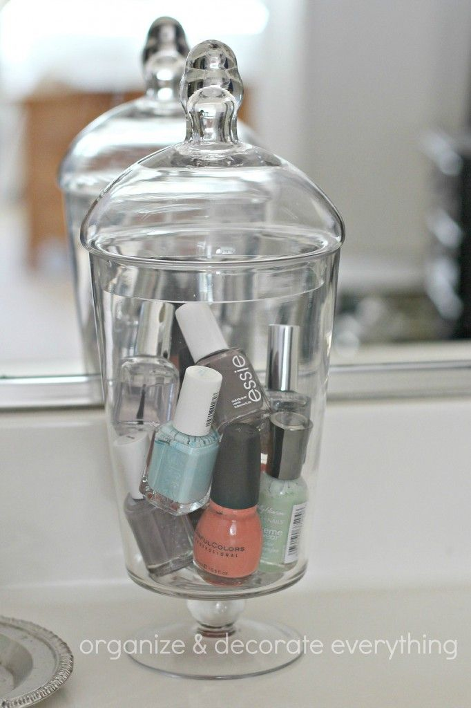 31 Days of Getting Organized (Using What You Have) - Day 2: Jars in the Bathroom - Organize and Decorate Everything