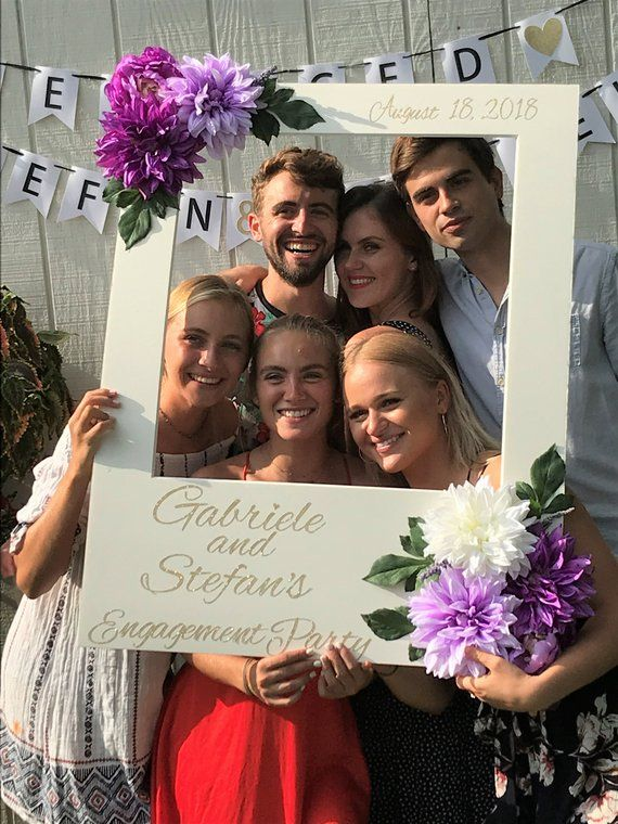 Giant Photo Frame Photo Booth Prop Bridal Shower Frame Purple