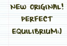 New Original! Check it out at: http://madeforsou.com/2014/09/perfect-equilibrium.html