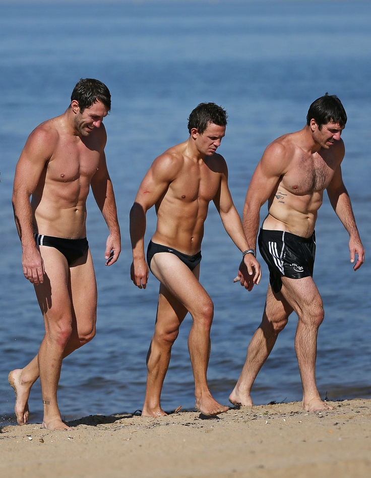 From left to right:  Travis Cloke, Luke Ball, and Quentin Lynch