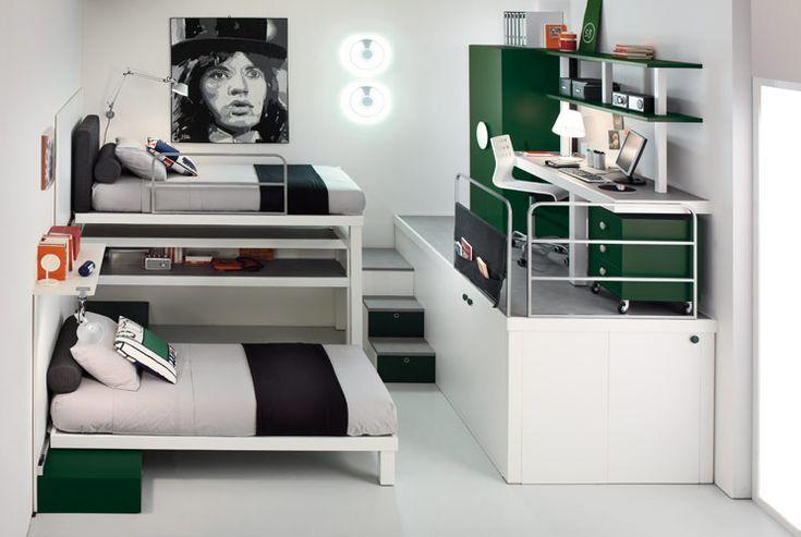 7 Modern Kids Loft Boys Bedrooms from Timidey Spa   Kidsomania