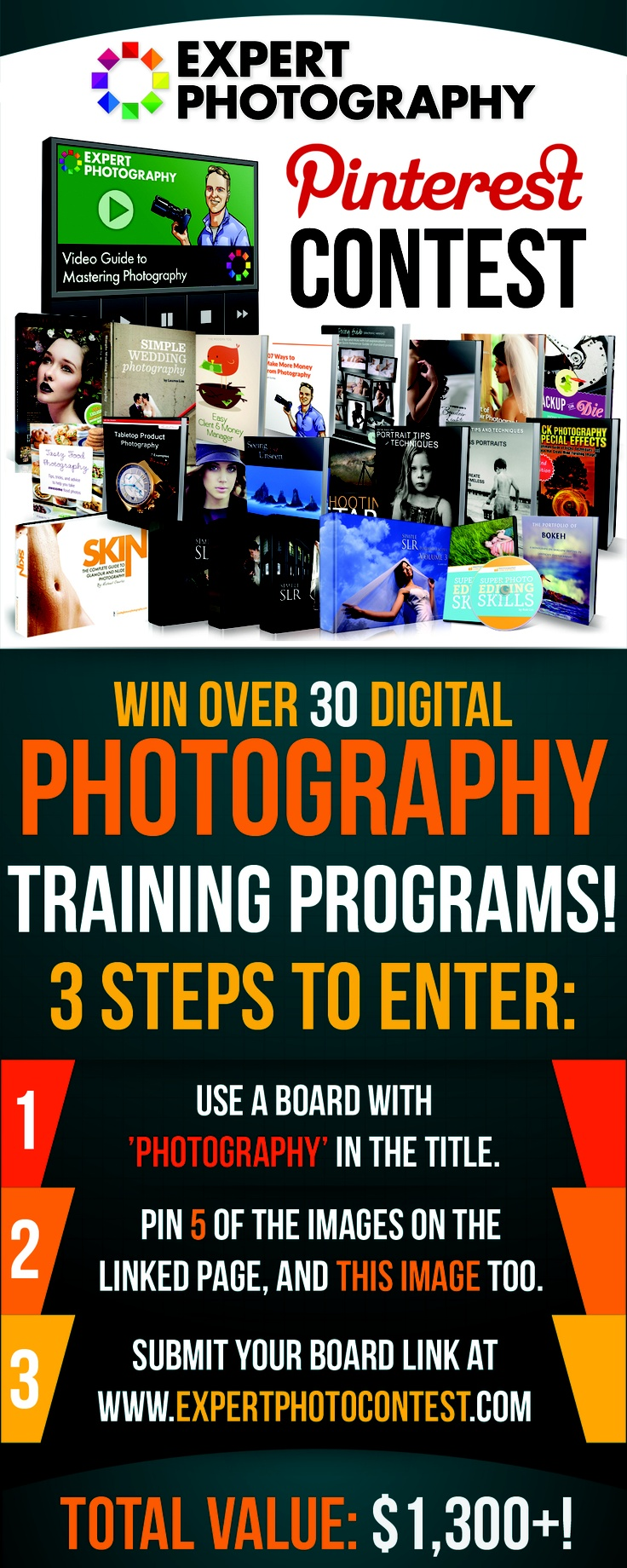 Contest to win a bunch of photography training tools!